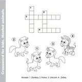 Sea horse and crossword stock illustration. Illustration