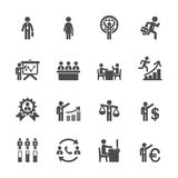Human Resource Management Icon Set Stock Vector
