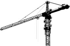 Tower Crane Sketch Stock Illustrations