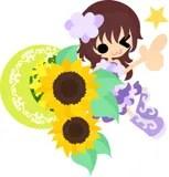 smiling sunflower clip art stock