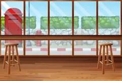 inside restaurant bar chairs clipart coffee vector premium illustrations vectors