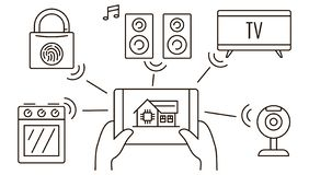 Eco Friendly House Interior Stock Illustration