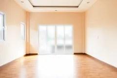 empty yellow background interior door wall