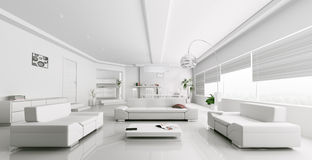 modern white living rooms room desings red throw on sofa in stock illustration interior of rendering