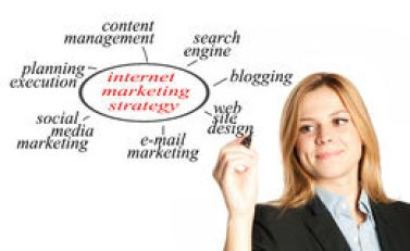 Internet marketing strategy Stock Photos