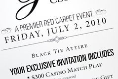Black Tie Invitation Stock Photos, Images, & Pictures