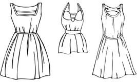Summer Dresses Women Stock Illustrations, Vectors