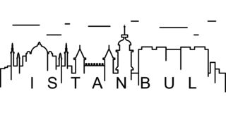 Blue Mosque Illustration. Istanbul (Turkey) Stock Vector