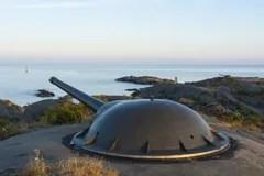 Kstenartilleriebatterie Landsort Schweden Stockbild  Bild von skandinavien archipel 52221319