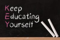 Keep-educating-yourself-acronym Royalty Free Stock Photo ...