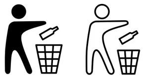 Keep Clean Sticker stock illustration. Illustration of