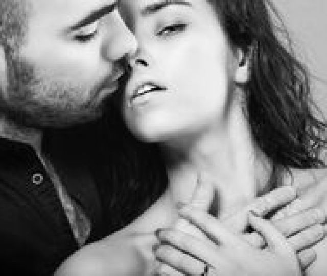 A Hot Men Is Kissing His Beautiful Young Woman Royalty Free Stock Photo