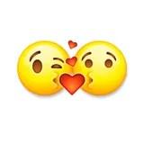 Download Cartoon Kissing Emoticon Stock Vector - Image: 46948206