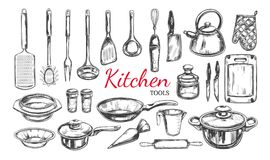 Tools Objects Cartoon Illustration Set Stock Vector