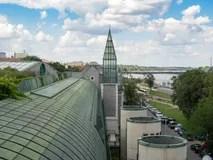 Giardino Pensile Della Biblioteca Universitaria Di Varsavia Immagine Stock  Immagine di