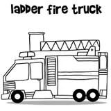 Transport Of Ladder Fire Truck Cartoon Stock Vector