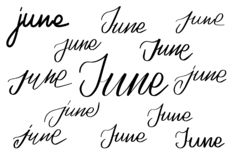 May Month Word Wall Calendar Remember Schedule Stock