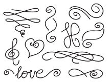 Twisted Line Border Clip Art Stock Photos, Images