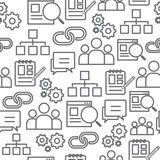 Seamless Background Pattern With Business Keywords Stock