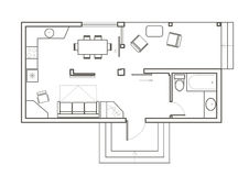 Architectural Sketch Of House Plan Royalty Free Stock