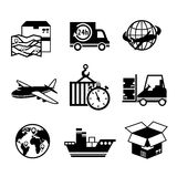 Supply Chain Icons Set stock vector. Illustration of