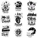Set Of Vintage Fishing Logo, Labels, Emblems And Designed