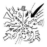 A Ilustração Do Vetor De Uma Mão Está Escrevendo Com Pena