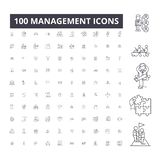Thin Line Icons Set Of Project Management Stock Vector