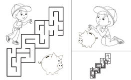 Step By Step Instructions How To Make Origami Pig. Stock