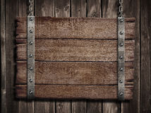 Fall Round Picnic Table Wallpaper Old Blank Tavern Medieval Wooden Signboard Stock Photo