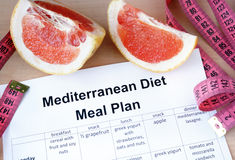 mediterranean diet meal plan grapefruit weight loss concept 53762103