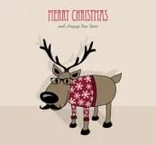 funny reindeer with christmas lights