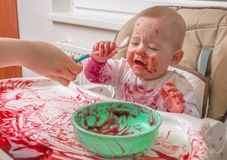 Messy Baby Face Royalty Free Stock Photo - Image: 4110395