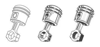 Vector car engine piston stock illustration. Illustration