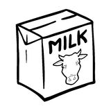 Funny Milk Bottle Stock Illustrations