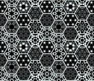Mattonelle Di Ripetizione In Bianco E Nero Decorate