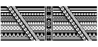 Bosquejo Tribal Del Diseño Del Vector Del Tatuaje Brazo Del Modelo
