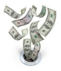 Money Down The Drain Waste Stock Images