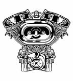 Viking skull stock vector. Illustration of axes, image