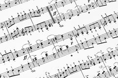 Music sheet stock photo. Image of melody, harmony, opera