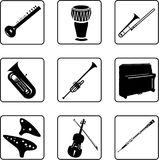 Diagram Of Musical Instrument For Marching Band Stock