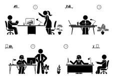 Supervisor Stock Illustrations