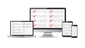 Online Computer Survey stock photo. Image of satisy