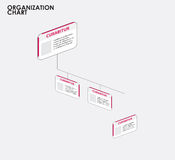 Organization chart infographics with tree, Dimention flow