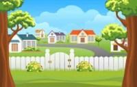 Backyard Fence Stock Illustrations  919 Backyard Fence ...