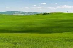 La Toscana Paesaggio Rurale Di Tramonto Rolling Hills