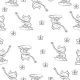 Hand draw cartoon frog stock vector. Illustration of draw