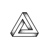 The Penrose triangle stock illustration. Illustration of