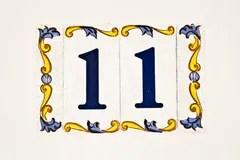 Numero Civico 11 Fotografia Stock  Immagine 46541372