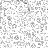 Cooking pattern stock vector. Image of glass, seamless